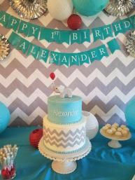 Cakes by Frosted Custom Elephant Birthday Cake for 1st Kid Birthday