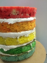 Cakes by Frosted Flavorful Custom Rainbow Cakes