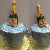 Sculpted fondant champagne bottle