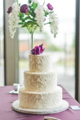 Cakes by Frosted Custom Coconut Simple Floral Wedding Cake Floral Shot View More: http://jphinneyphotography.pass.us/derekallyson