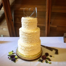 Textured Butttercream Wedding cake