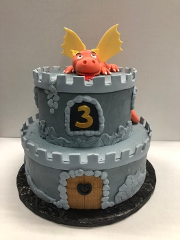 Castle Dragon Birthday Cake