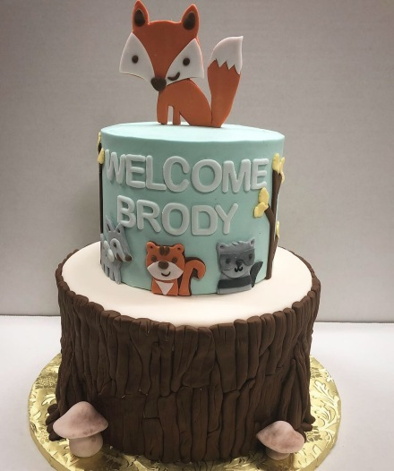 Fox and Woodland Creature baby shower